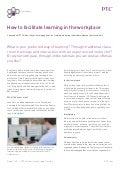 How To Facilitate Learning In The Workplace