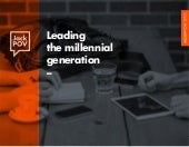 Leading the millennial generation