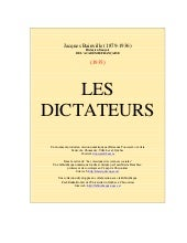 [Jacques bainville]   les dictateurs