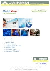 Jainam Market Mirror - Jainam Research