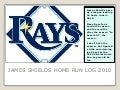 James Shields 2010 Home Run Log