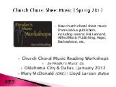 Church Choir Sheet Music | Spring S...