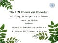 The UN Forum on Forests: A 360-degree Perspective on Forests