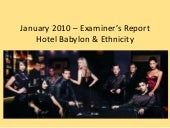 January 2010 – examiner's report