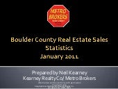 January 2011 Boulder County Real Es...