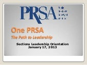 January 2013 section leader orienta...