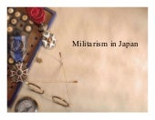 Japanese militarism and occupation