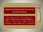 Japanese Society and Economics