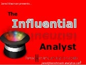The Influential Analyst 4 Steps (Ja...