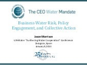 Business Water Risk, Policy Engagem...