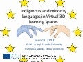 Indigenous and minority languages about the use of virtual worlds