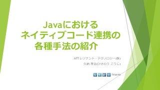 Javaにおけるネイティブコード連携の各種手法の紹介