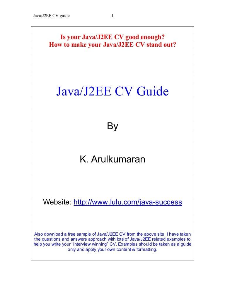 Java/J2EE CV Guide