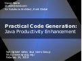 Java Code Generation for Productivity