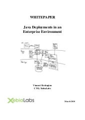 Java deployments in an enterprise e...