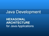 Hexagonal architecture for java applications