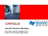 Java EE 6 Hands-on Workshop at Dall...