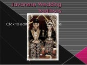 Javanese wedding traditions