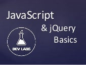 JavaScript and jQuery Basics