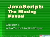JavaScript Missing Manual, Ch. 1