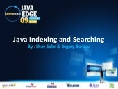JavaEdge09 : Java Indexing and Sear...