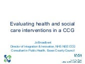 Evaluating health and social care i...