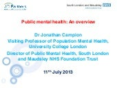 Public mental health: An overview