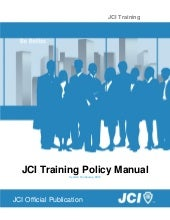 Jci training policy manual eng 2013-01