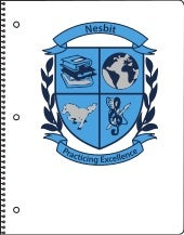 Nesbit Elementary School White Spiral-bound Notebooks