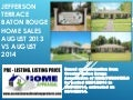 Jefferson Terrace Subdivision Baton Rouge Home Sales Report August 2013 vs August 2014