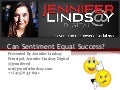 Jennifer Neeley Lindsay - Can Sentiment equal Success?