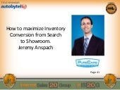 Jeremy Anspach: How to Maximize Inventory Conversion from Search to Showroom