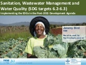 Sanitation, Wastewater Management and Water Quality: Implementing the SDGs in the Post-2015 Development Agenda