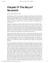 Jesus the christ chapter 9  the boy of nazareth