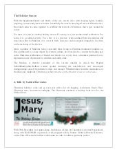 Jesus, Mary & the Holiday Season - ...
