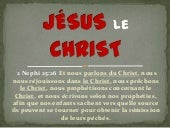 Jesus the Christ in FRENCH