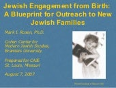 Jewish Engagement from Birth: The P...
