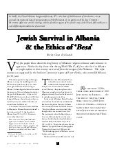 Jewish Survival in Albania & the Et...