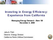 Julie Fitch - Investing in Energy E...