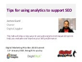 SEO Analysis - Using Web Analytics to Support SEO