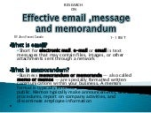 effective email,memorandum and mess...