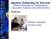 Jigsaws webinar January 31, 2013