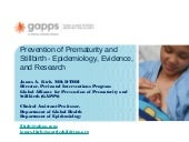 Prevention of Prematurity and Still...