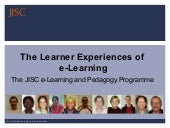 JISC Learner Experiences