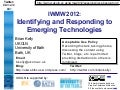 Identifying and Responding to Emerging Technologies