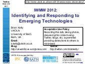 Identifying and Responding to Emerg...