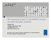 The Improving Access to Text (IMPAC...