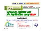 Ontology Building and its Application using Hozo