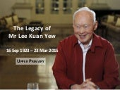 Tribute to Singapore's Lee Kuan Yew