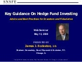 Key Guidance On Hedge Fund Investing